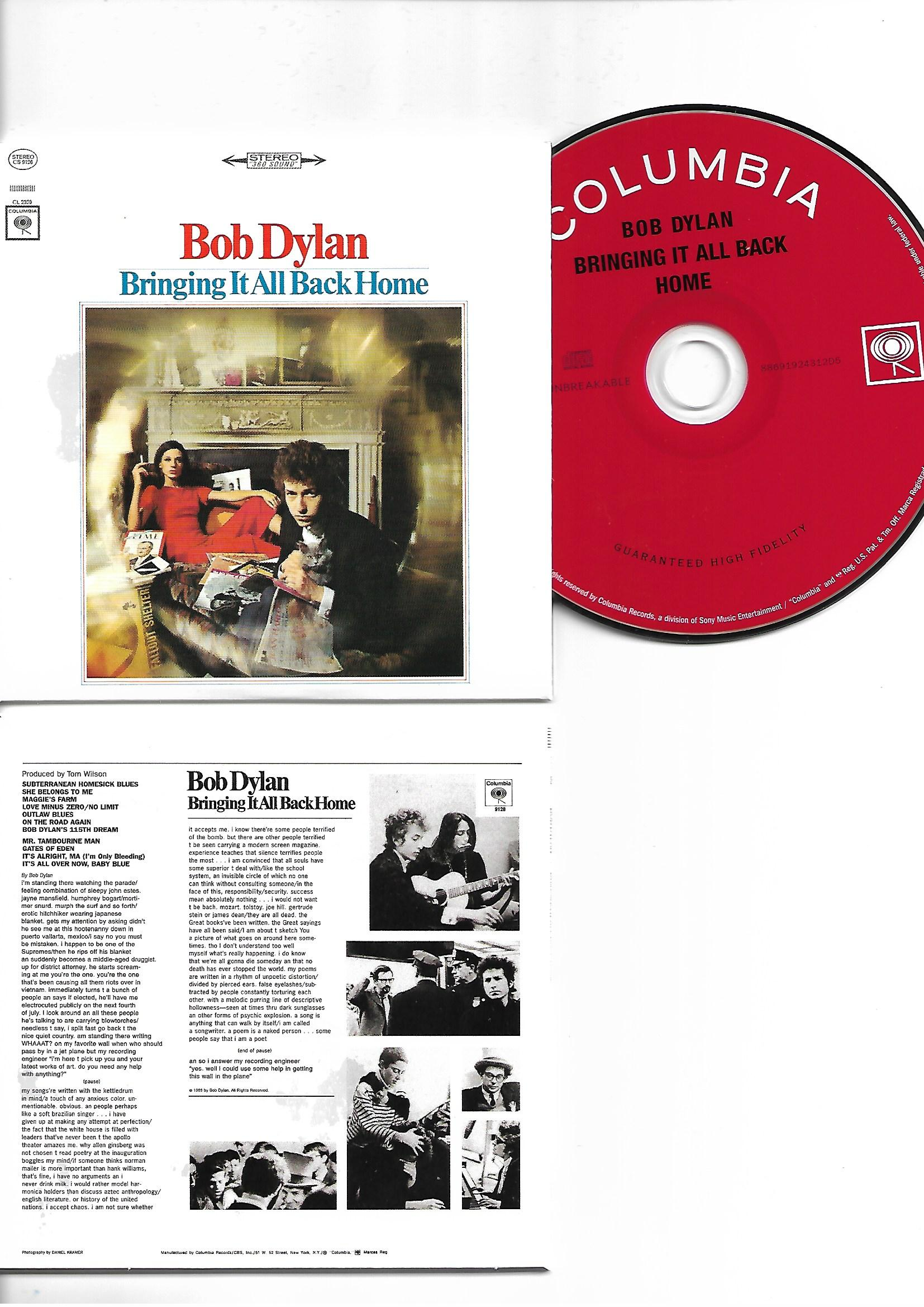 BOB DYLAN - Bringing It All Back Home 1965 - MINI LP REPLICA CARD BOARD SLEEVE - CD