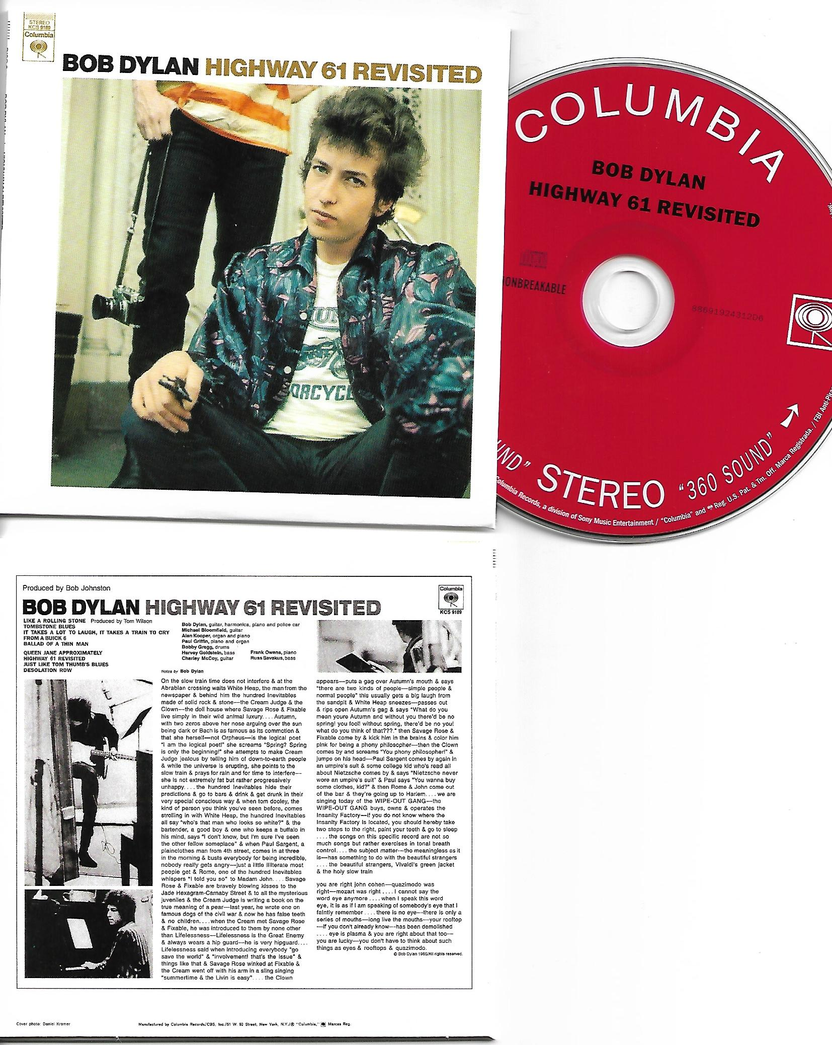 BOB DYLAN - Highway 61 Revisited 1965 - MINI LP REPLICA CARD BOARD SLEEVE - CD
