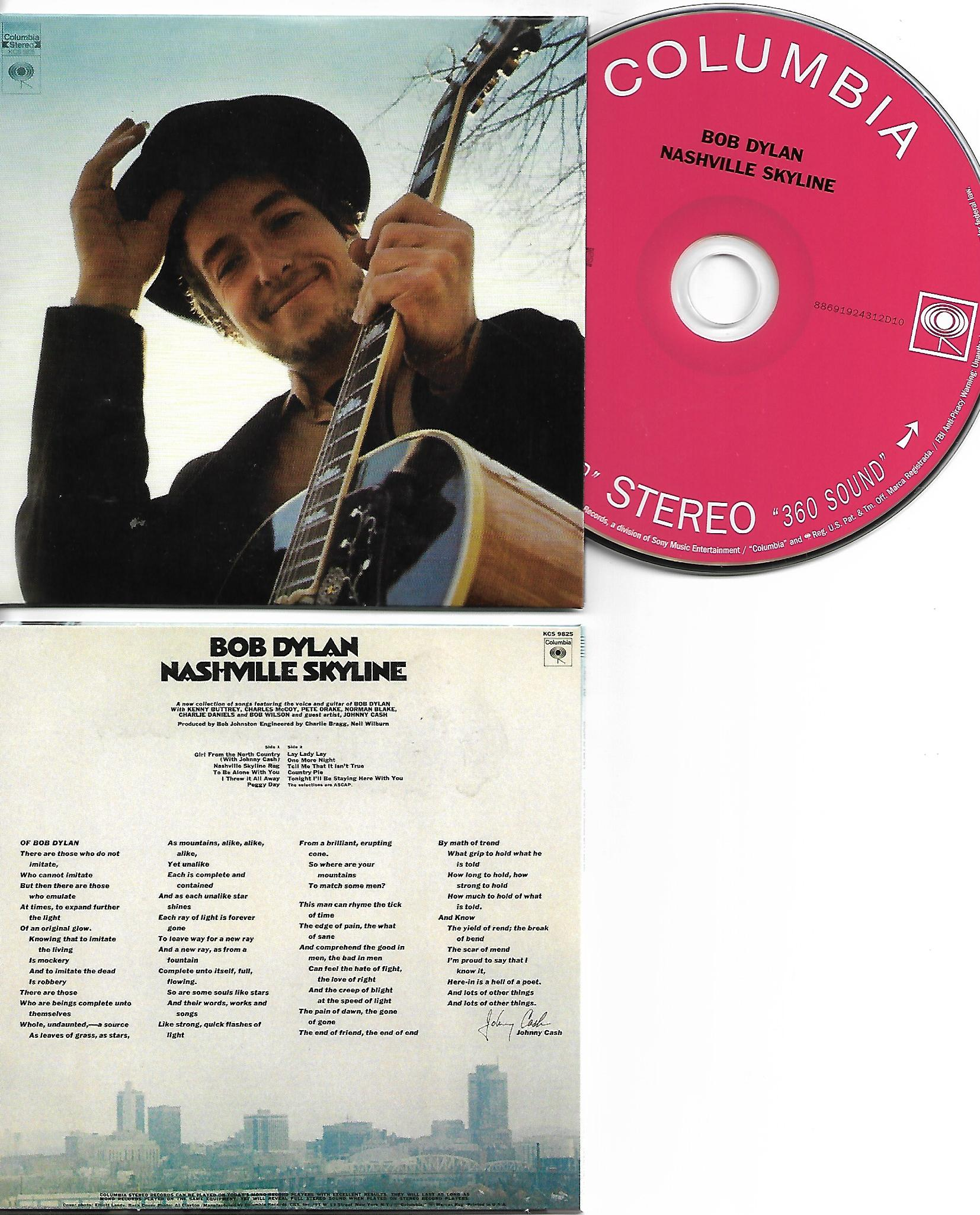 BOB DYLAN - Nashville Skyline 1969 - MINI LP REPLICA CARD BOARD SLEEVE - CD