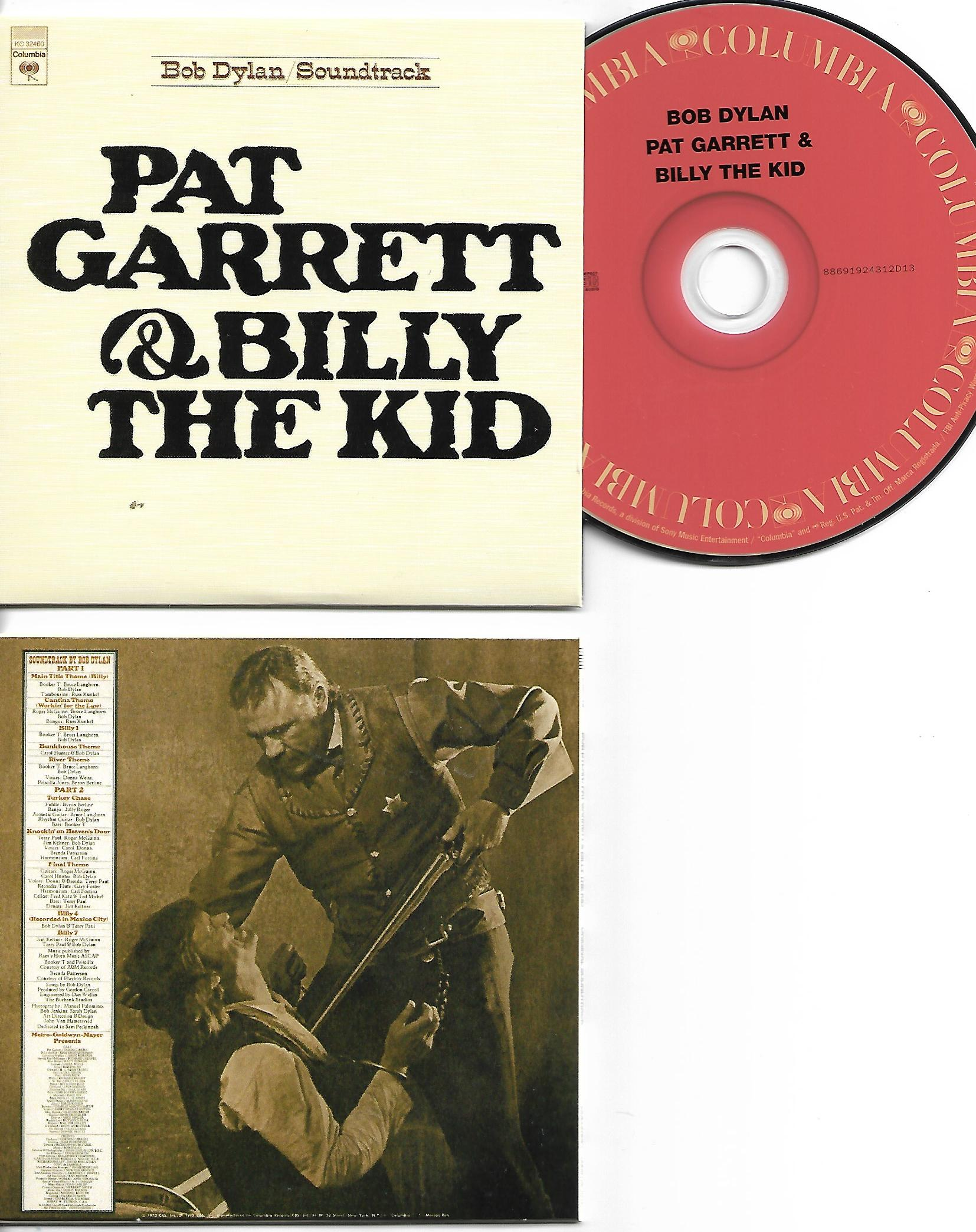 BOB DYLAN - Pat Garrett and Billy the Kid 1973 - MINI LP REPLICA CARD BOARD SLEEVE - CD
