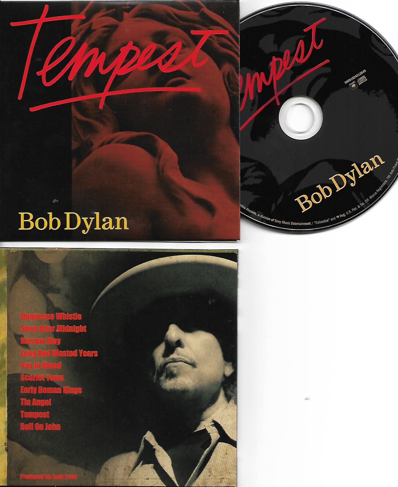 BOB DYLAN - Tempest (2012) - MINI LP REPLICA CARD BOARD SLEEVE - CD