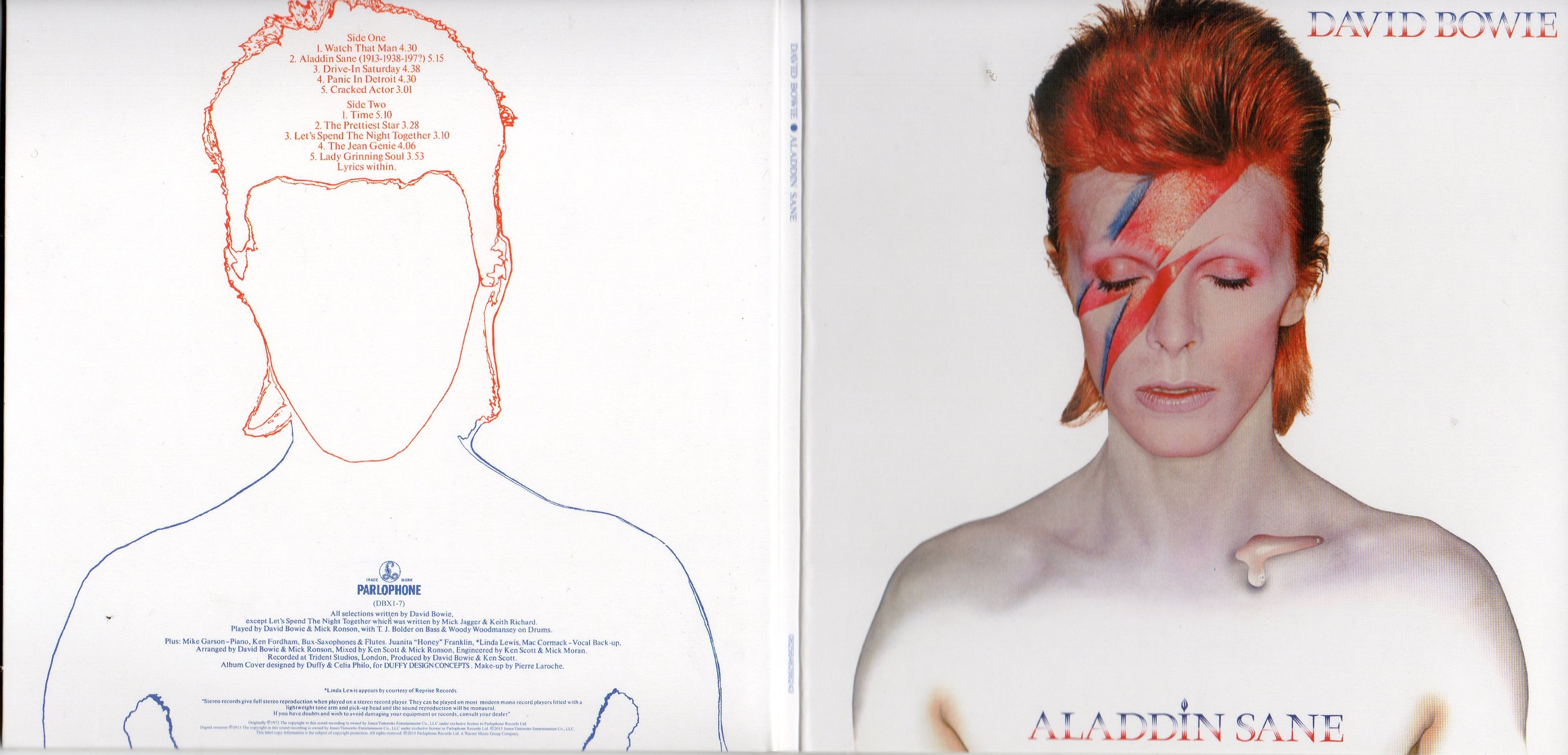 David BOWIE - Aladdin Sane (1973 - Mini Lp Replica Gatefold Card Sleeve - 10-track)