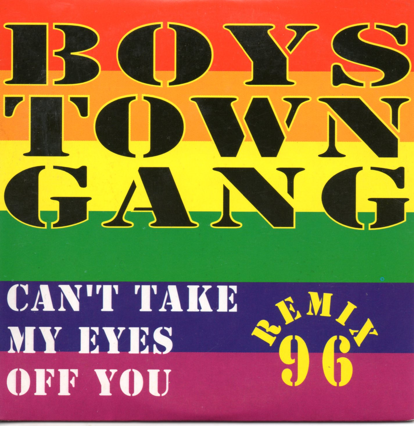 BOYS TOWN GANG - Can't take my eyes off you remix 96 3-track CARD SLEEVE - CD single