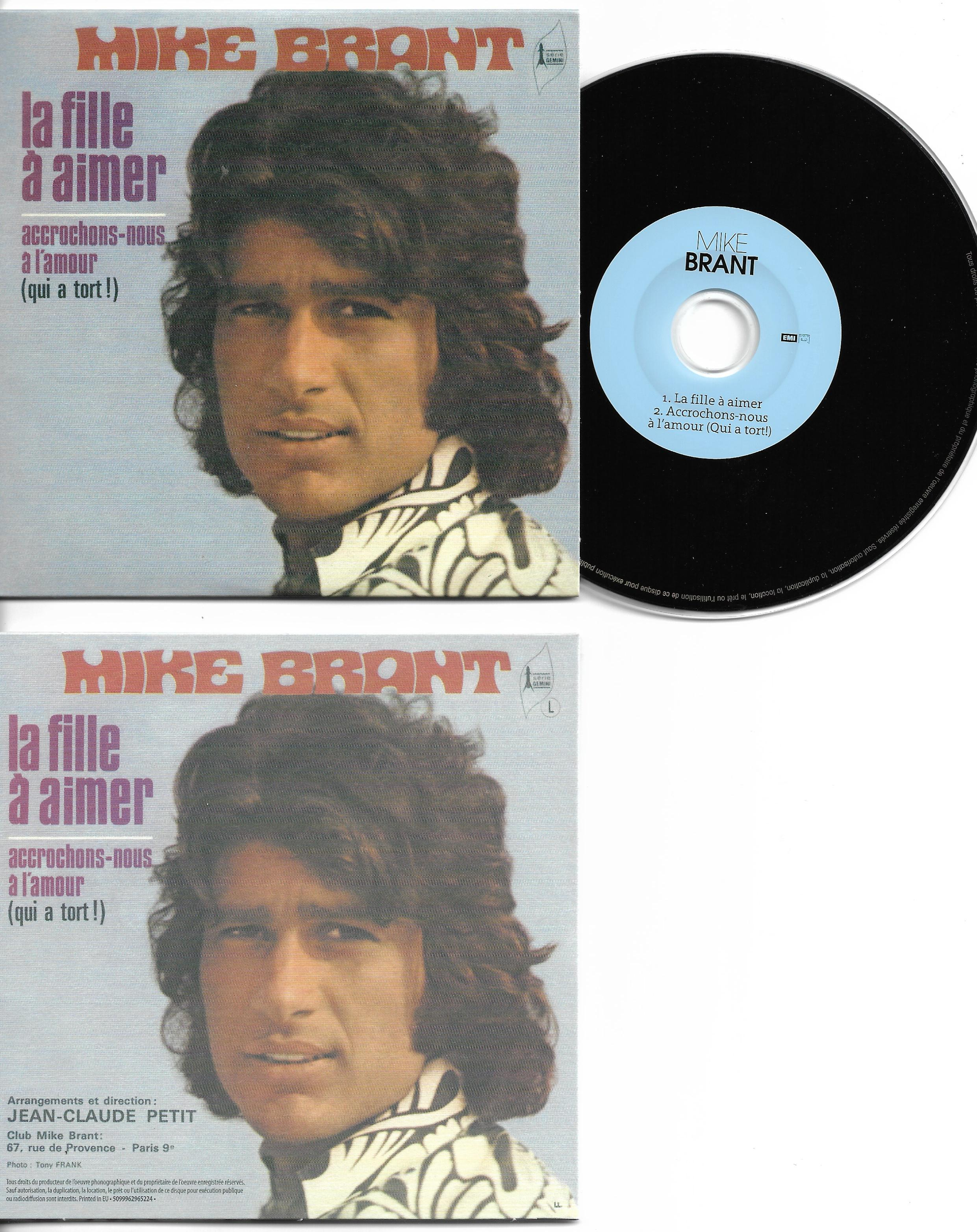 MIKE BRANT - La fille à aimer 2-TRACK CARD SLEEVE - CD single
