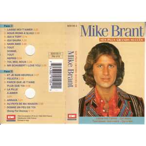 MIKE BRANT - Ses plus grands succes - Cassette