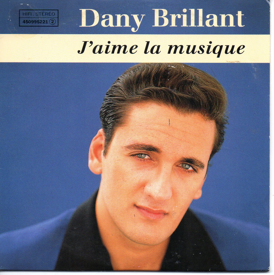 DANY BRILLANT - J'aime la musique 2-Track CARD SLEEVE - CD single