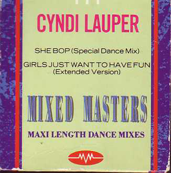 Cyndi LAUPER - She Bop Remix - Past Masters - Girls Just Want To Have Fun 2-track Card Sleeve