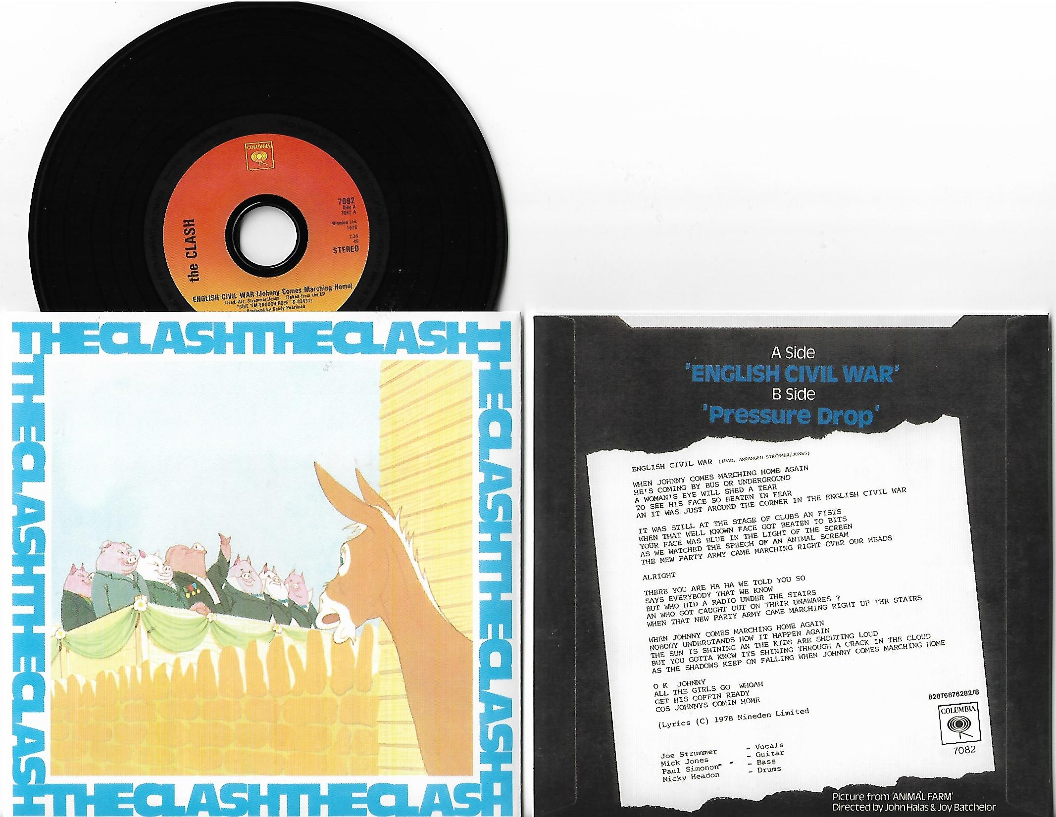 CLASH - English Civil War 2-track Card Sleeve