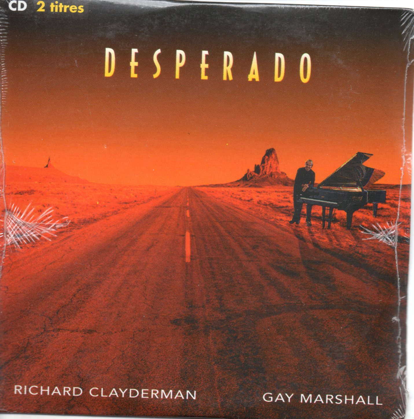 RICHARD CLAYDERMAN & GAY MARSHALL - Desperado 2 tracks CARD SLEEVE - CD single