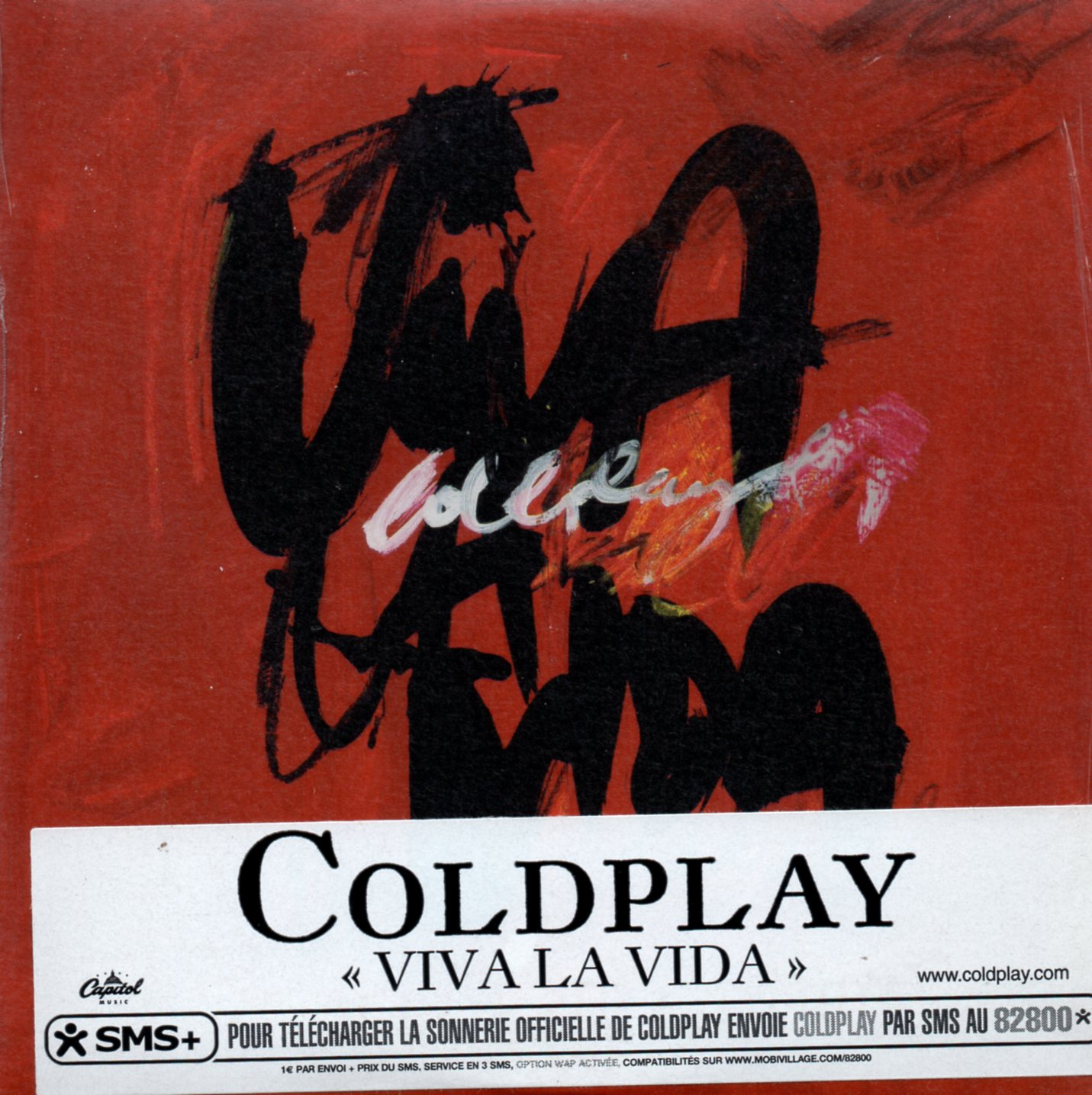 COLDPLAY - Viva La Vida Card Sleeve 2 Tracks Sticker