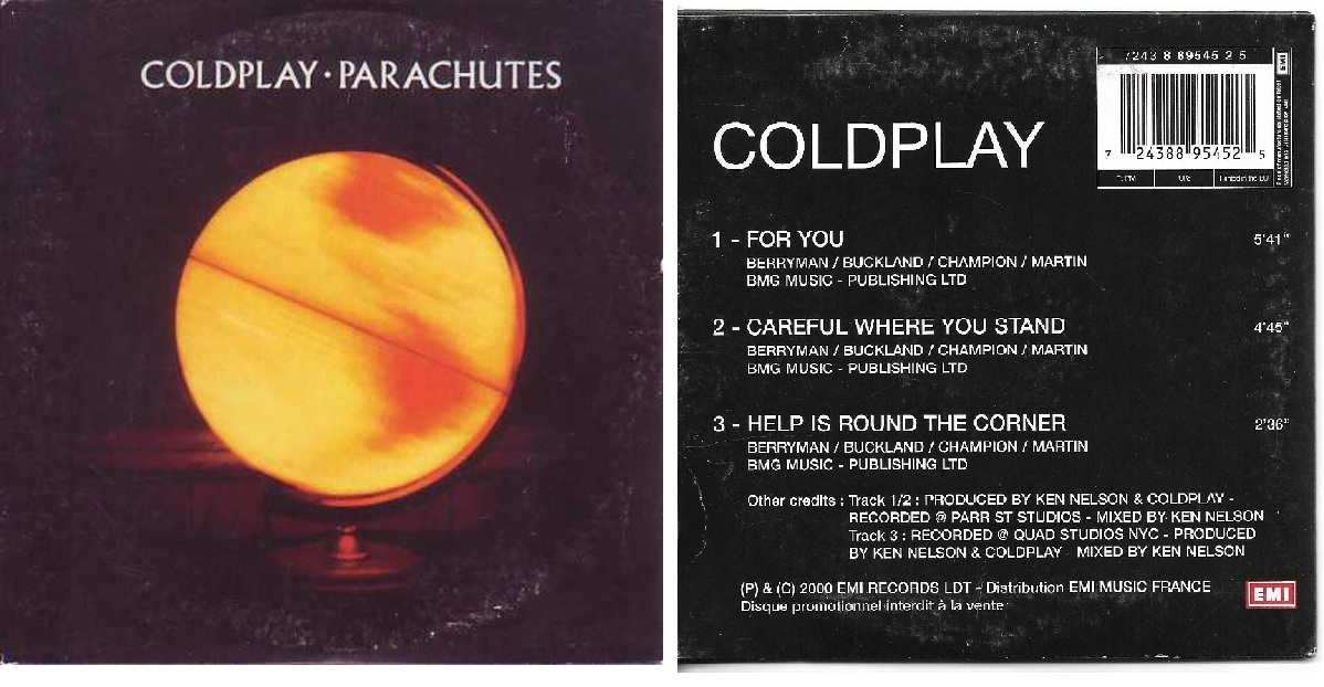 COLDPLAY - For You French Promo Card Sleeve 3-track