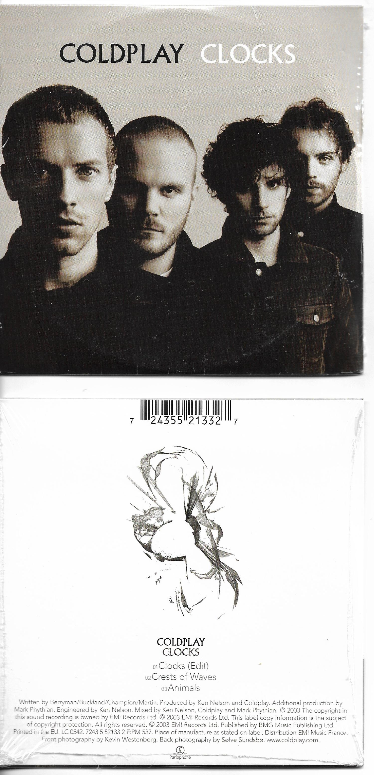 COLDPLAY - Clocks 3-track CARD SLEEVE - CD single
