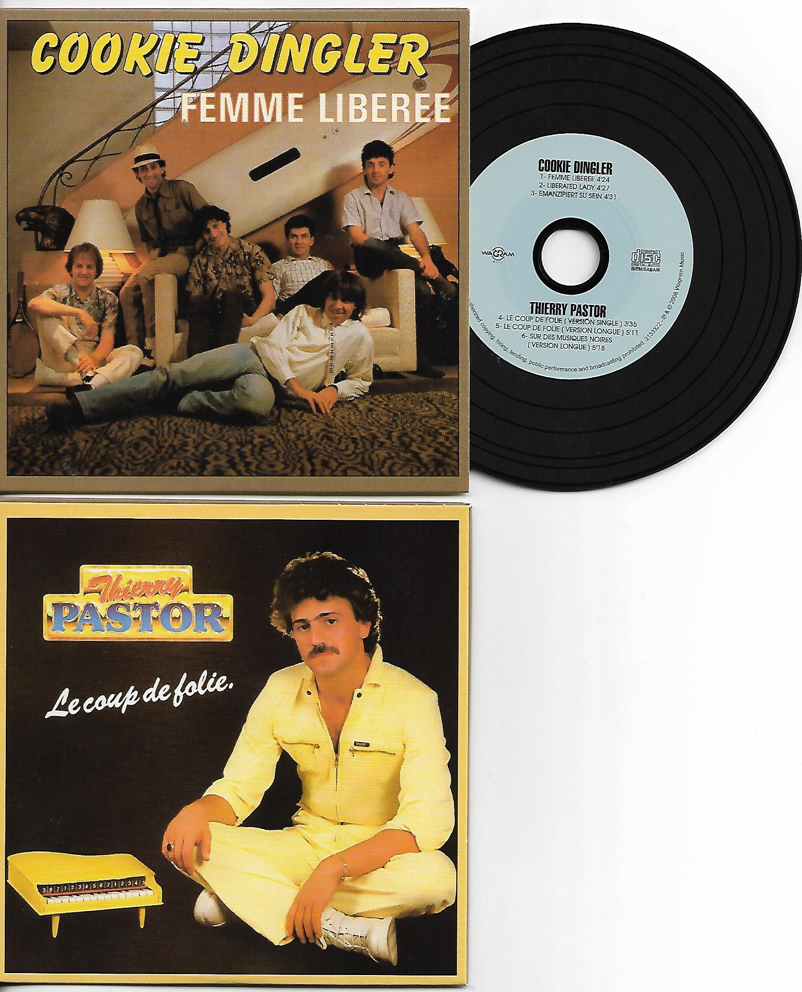 COOKIE DINGLER - THIERRY PASTOR - Femme liberee - Le coup de folie - special reissue CARD SLEEVE REMIXES 6-track - CD single