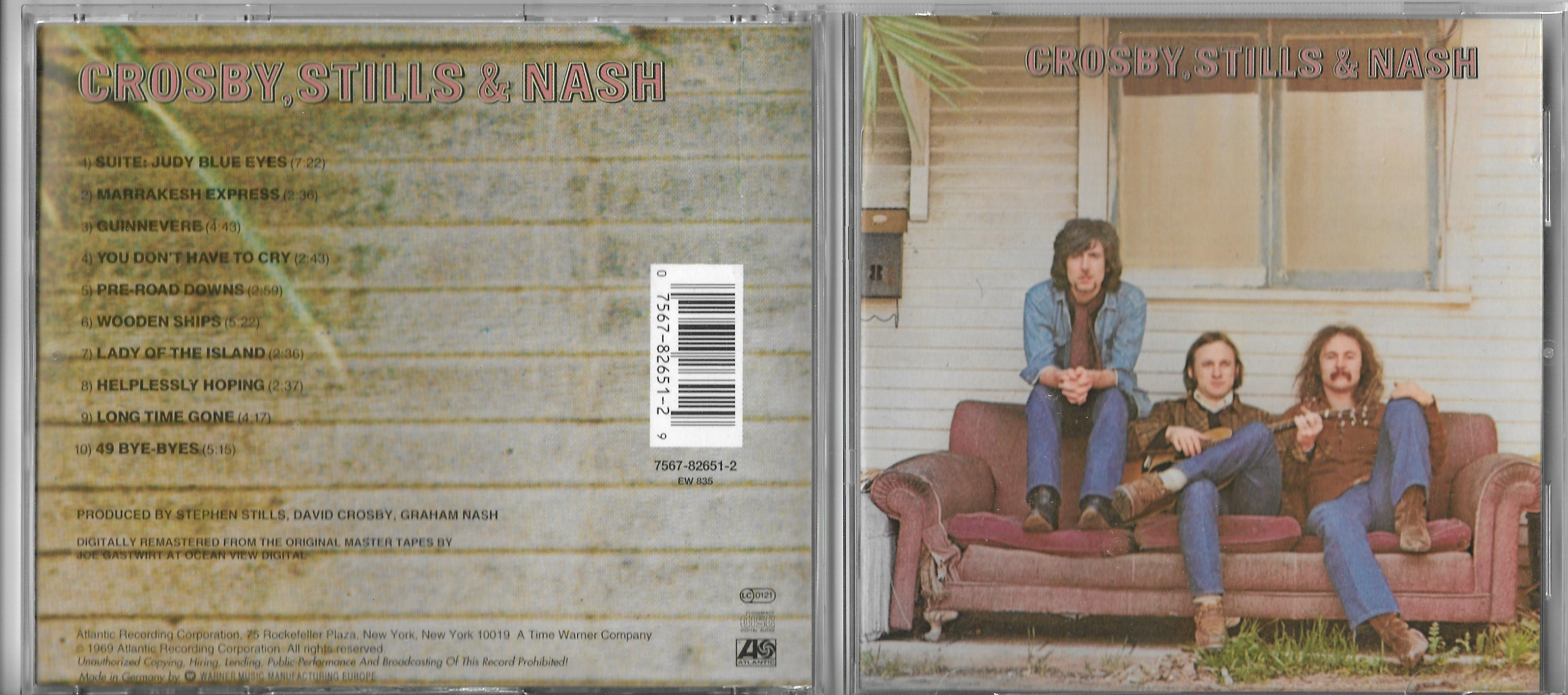 CROSBY, STILLS, NASH & YOUNG - Looking forward PROMO 2-TRACK CARD SLEEVE - CD single