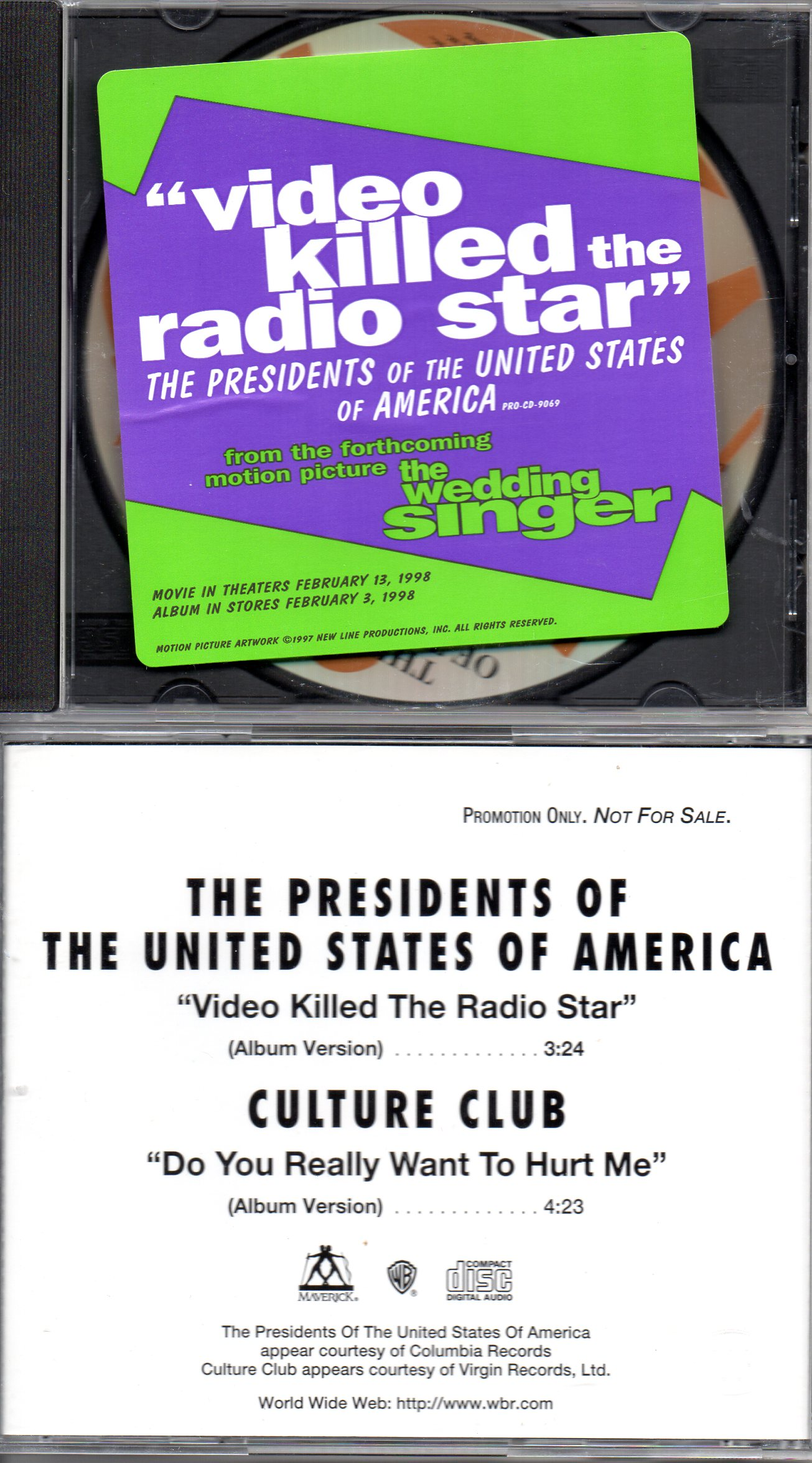 CULTURE CLUB - THE PRESIDENTS OF THE UNITED STATES - Do You Really Want To Hurt Me - Video Killed The Radio Star