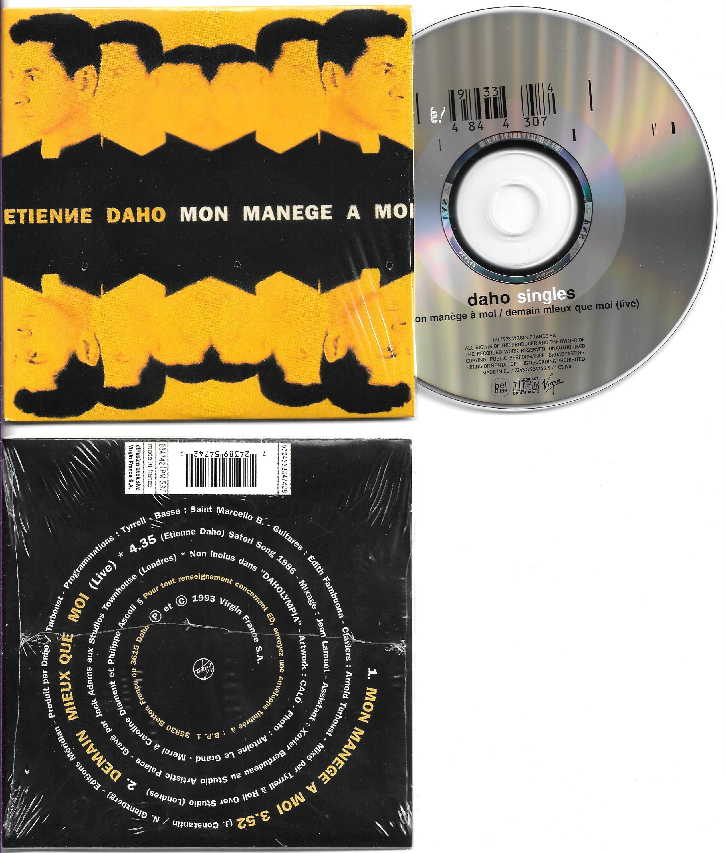 ETIENNE DAHO - Mon manege a moi 2 Tracks CARD SLEEVE  1 Mon manege a moi   2 Demain mieux que moi live - CD single