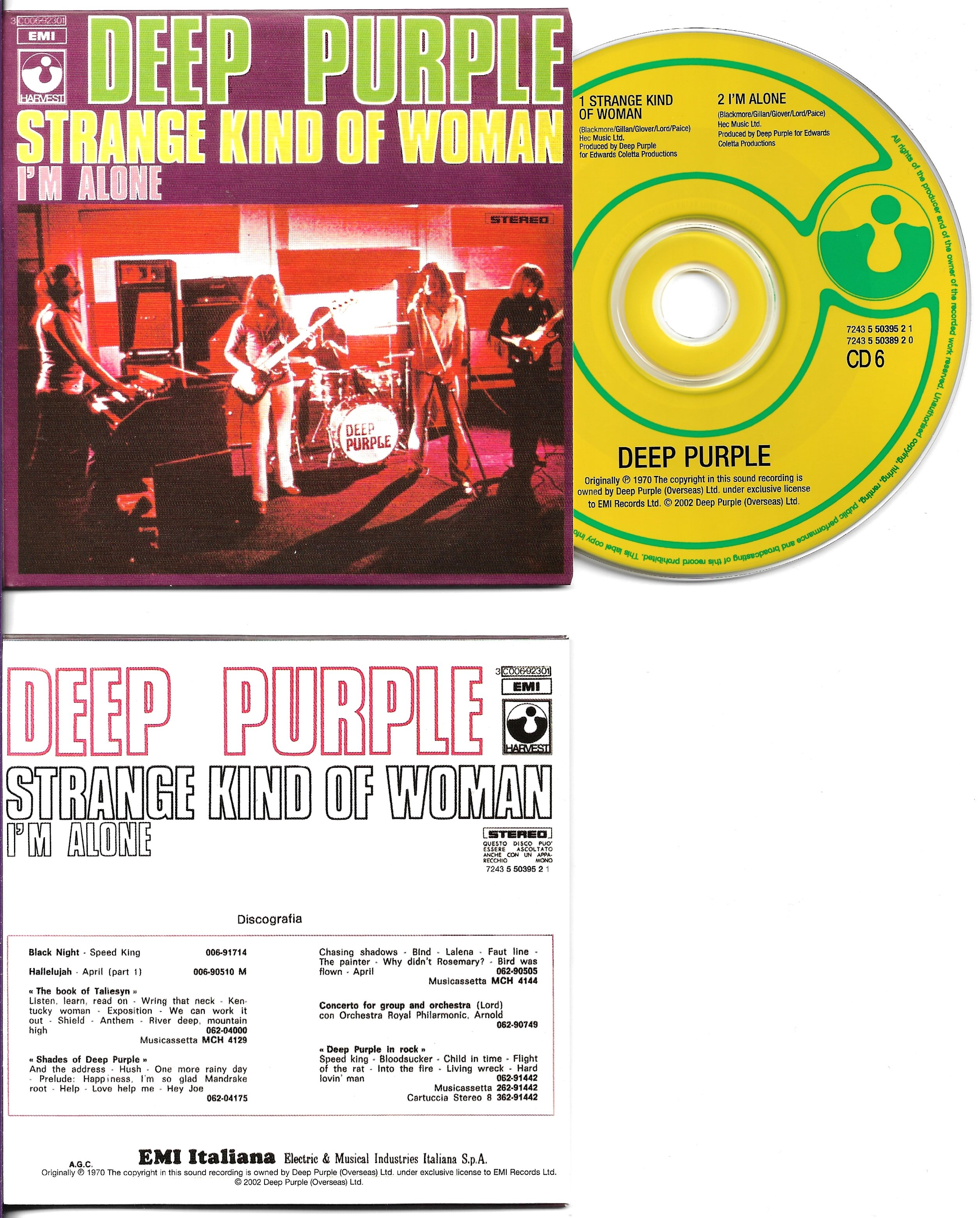 DEEP PURPLE - Strange Kind Of Woman 2-track Card Sleeve