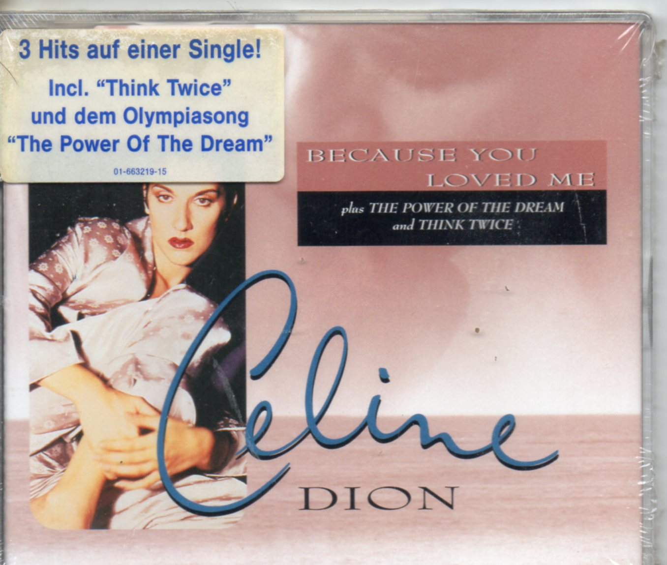 Because You Loved Me 4-track Jewel Case - Celine DION / Soundtrack up close &amp; personal