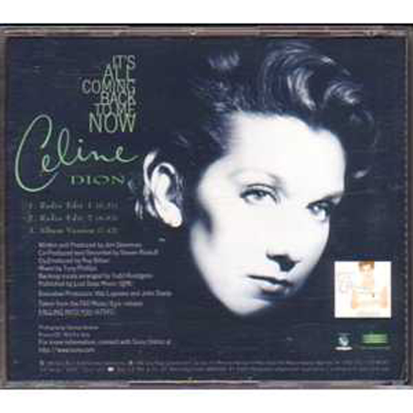 Celine DION - It's All Coming Back To Me Now Us Promo 3 Tracks