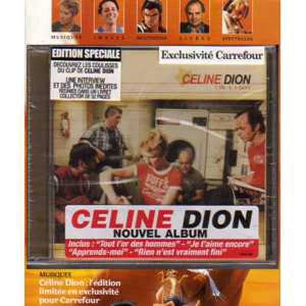 CÉLINE DION - 1 Fille 4 types Edition Limitee Carefour inc CD + Livret collector  + Magazine - CD