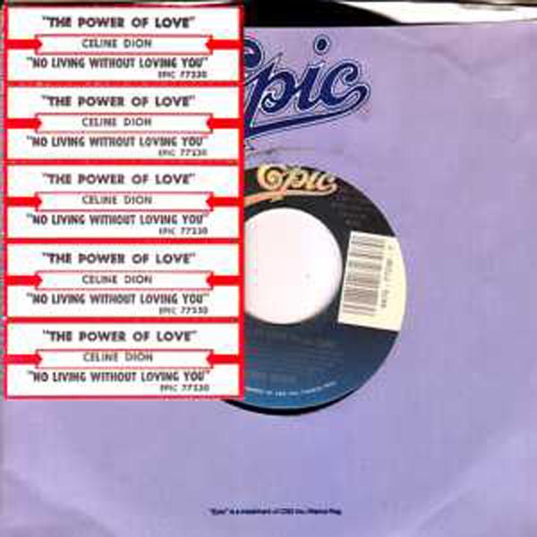CÉLINE DION - The power of love USA JUKE BOX - 45T (SP 2 titres)