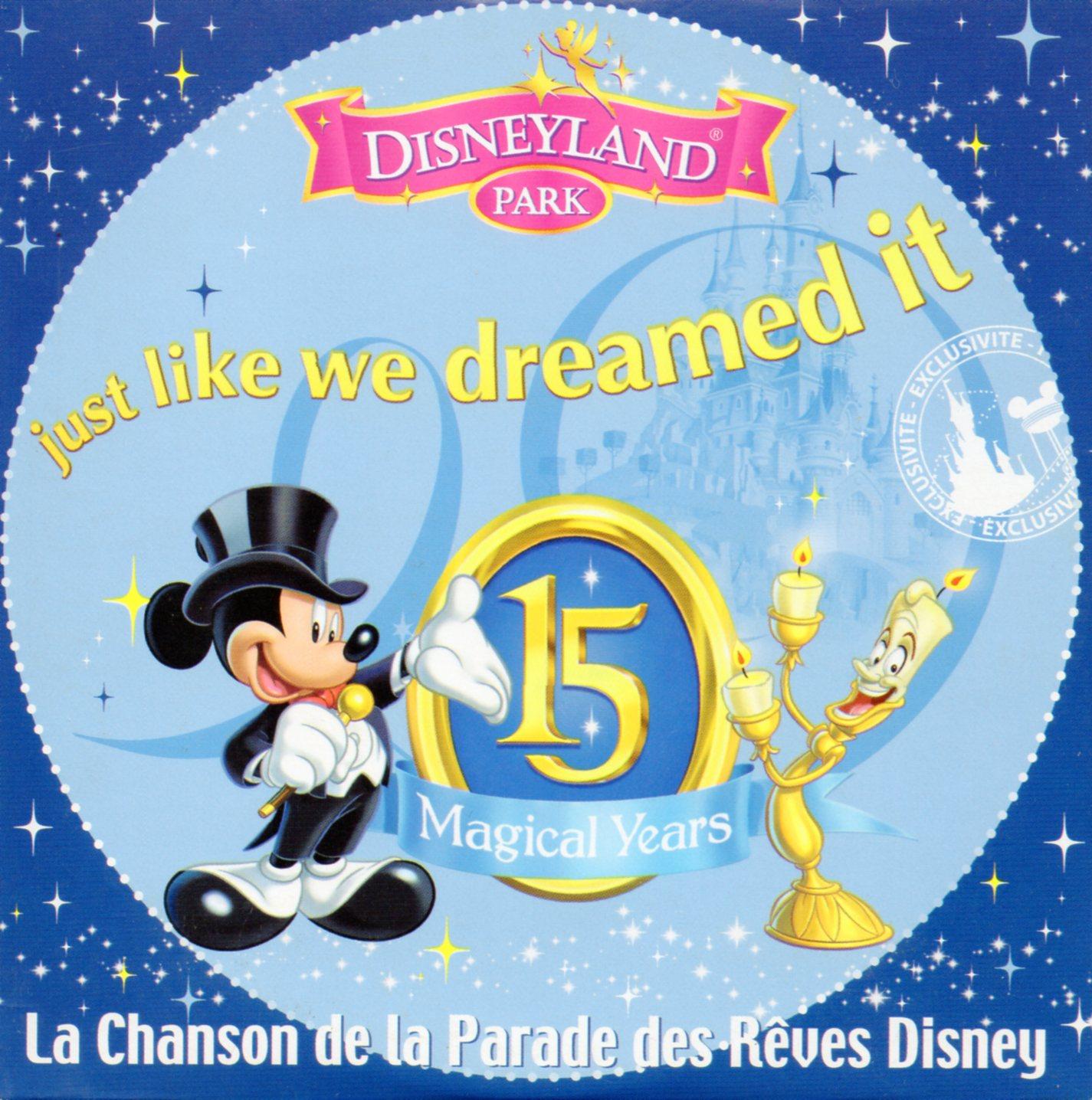 WALT DISNEY - Just like we dreamed it (La chanson de la parade des rêves Disney) 2-track CARD SLEEVE - CD single