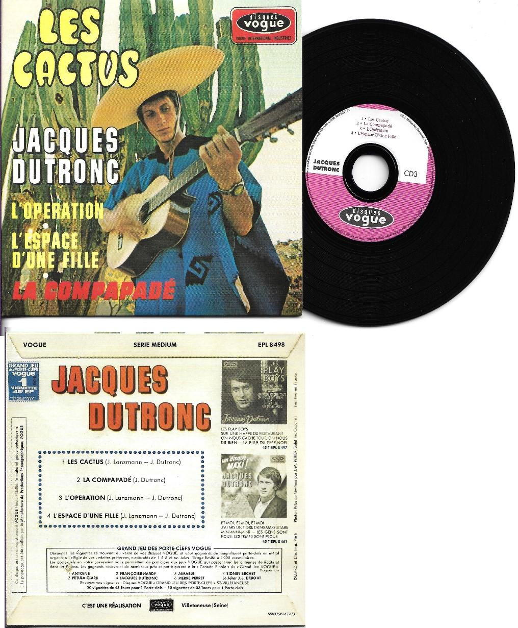 JACQUES DUTRONC - Les cactus CARD SLEEVE EP REPLICA 4-TRACK CARD SLEEVE - CD single