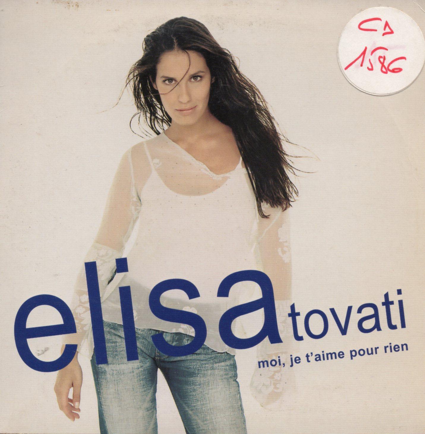 ELISA TOVATI - Moi, je t'aime pour rien Promo 1-track card sleeve - CD single