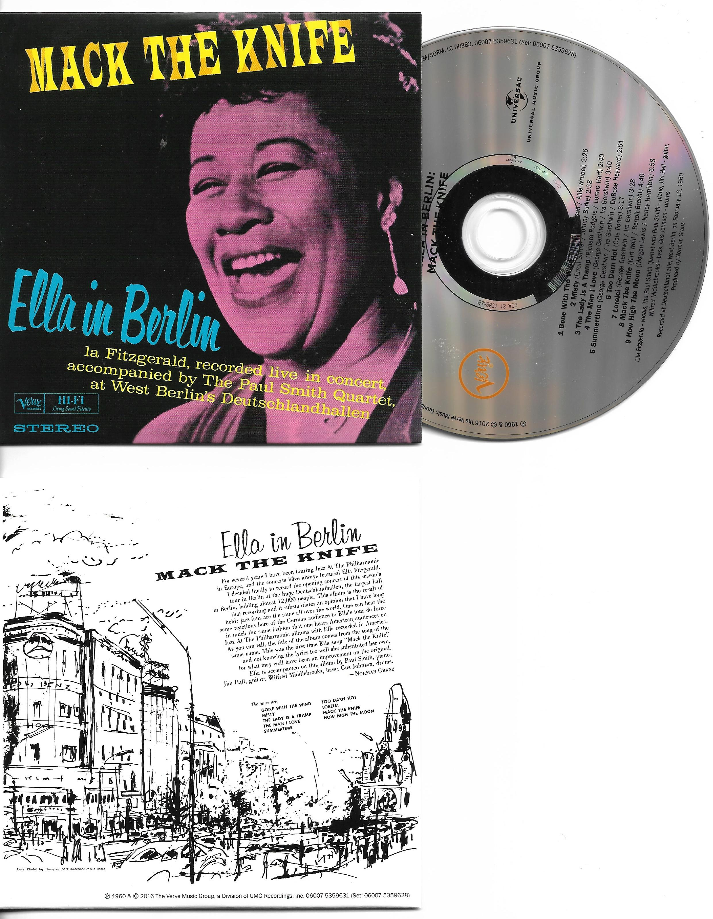 Ella FITZGERALD - Mack The Knife : Ella In Berlin | Mini Lp Replica Card Sleeve | 9-track