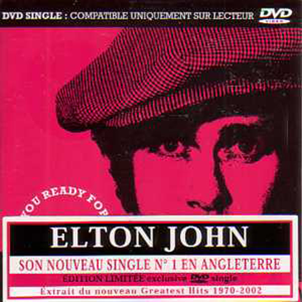 Elton JOHN - Are You Ready For Love - Dvd Single Card Sleeve