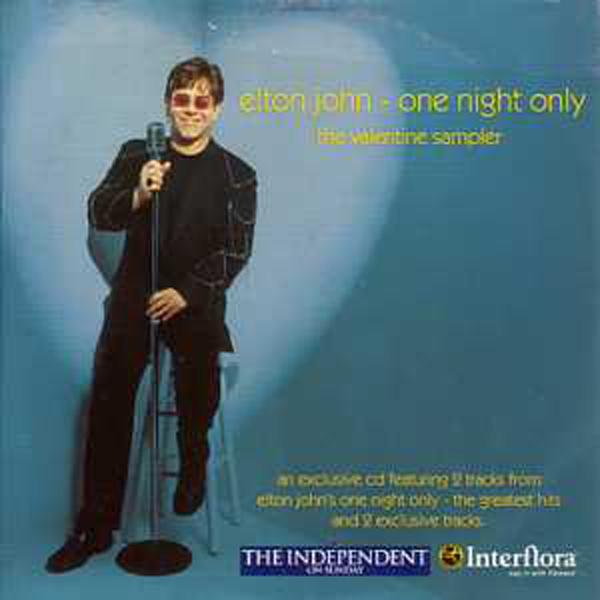 Elton JOHN - One Night Only - The Valentine Sampler Uk Promo Card Sleeve 4-track
