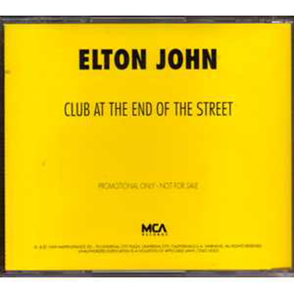 ELTON JOHN - Club At The End Of The Street PROMO US 1-track jewel case - CD Maxi
