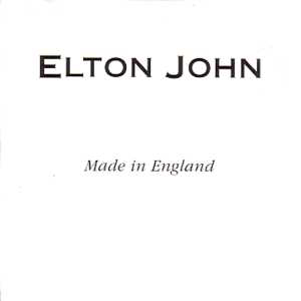 Elton JOHN - Made In England Promo 1-track Card Sleeve