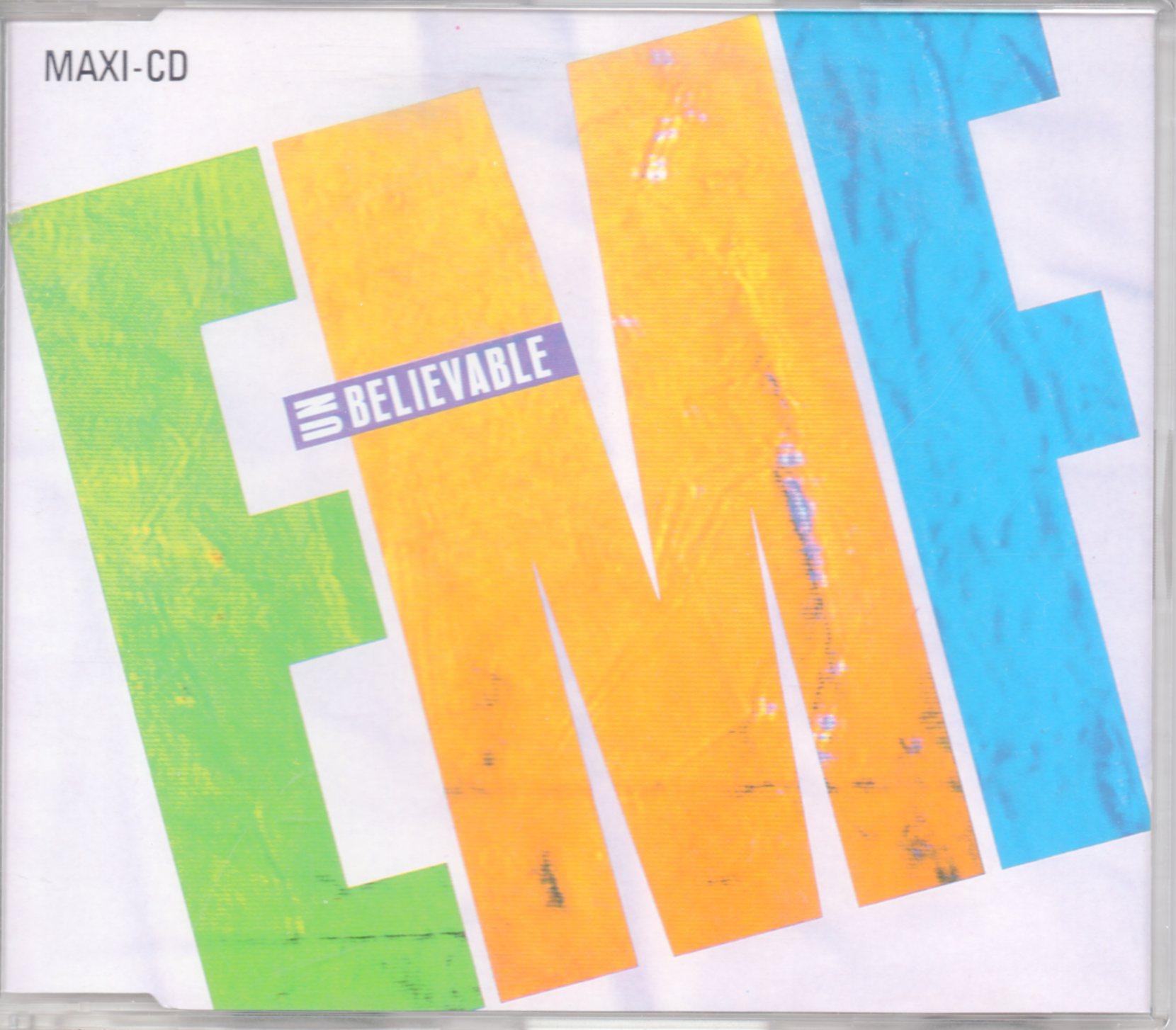 EMF - Unbelievable 3-Track jewel case - CD Maxi