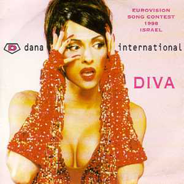 EUROVISION 1998 ISRAEL : DANA INTERNATIONAL - Diva 2 Track CARD SLEEVE 1st sleeve - CD single