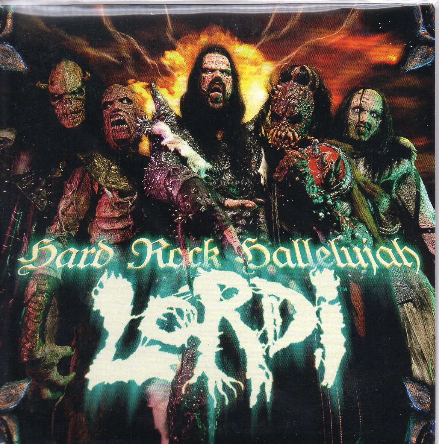 EUROVISION 2006 FINLANDE : LORDI - Hard rock hallelujah 2-track CARD SLEEVE - CD single