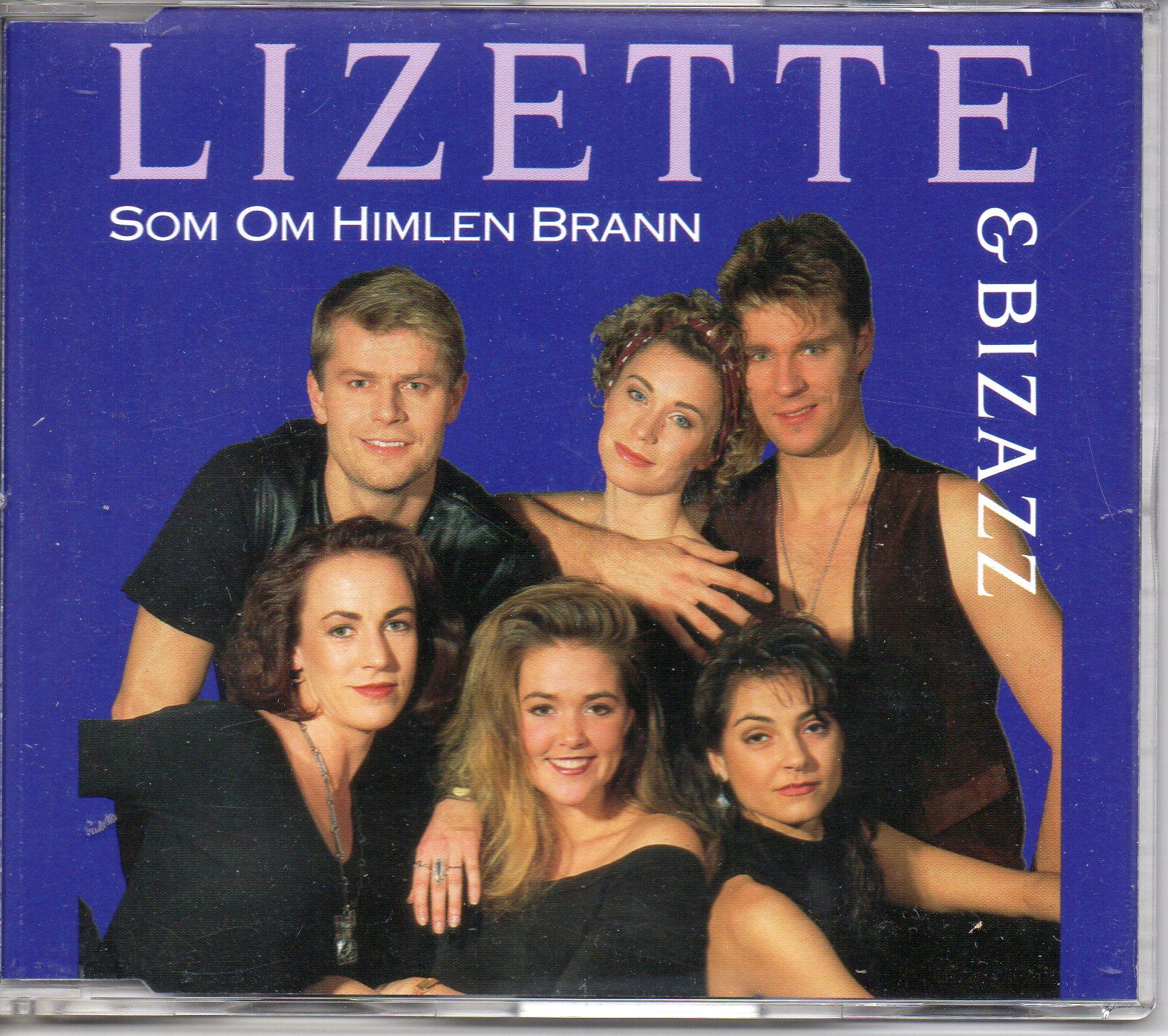 EUROVISION 1992 SUÈDE : LIZETTE & BIZAZZ - PRÉSELE - Som Om Himlen Brann 2-track Jewel case - CD Maxi