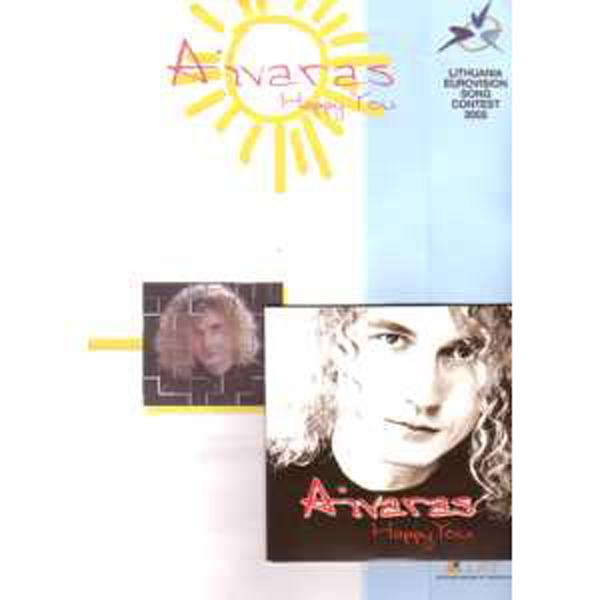 EUROVISION 2002 LITHUANIE : AIVARAS - Happy you   4 tracks Promo CDS + Info sheet + Photo - CD Maxi