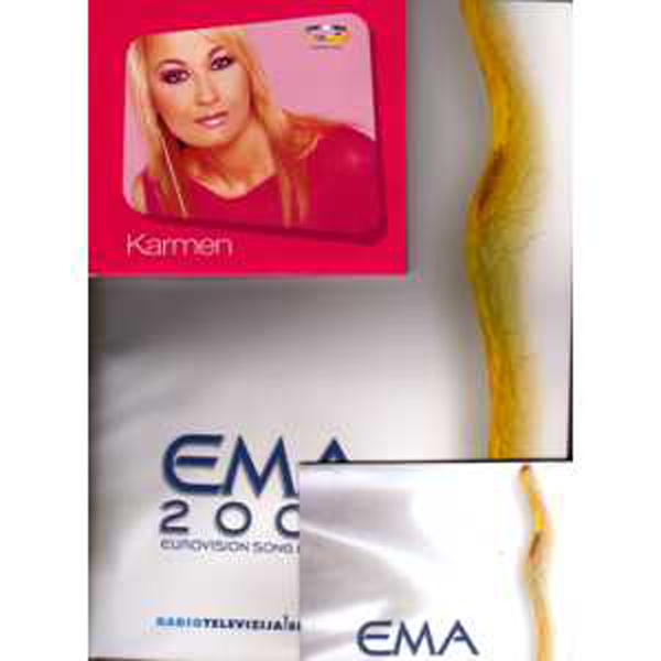 EUROVISION 2003 Slovenie : Karmen - Ema 2003 + Cd Single Great Press Kit Inc Promo Cds Karmen + Promo Cd Ema 2003