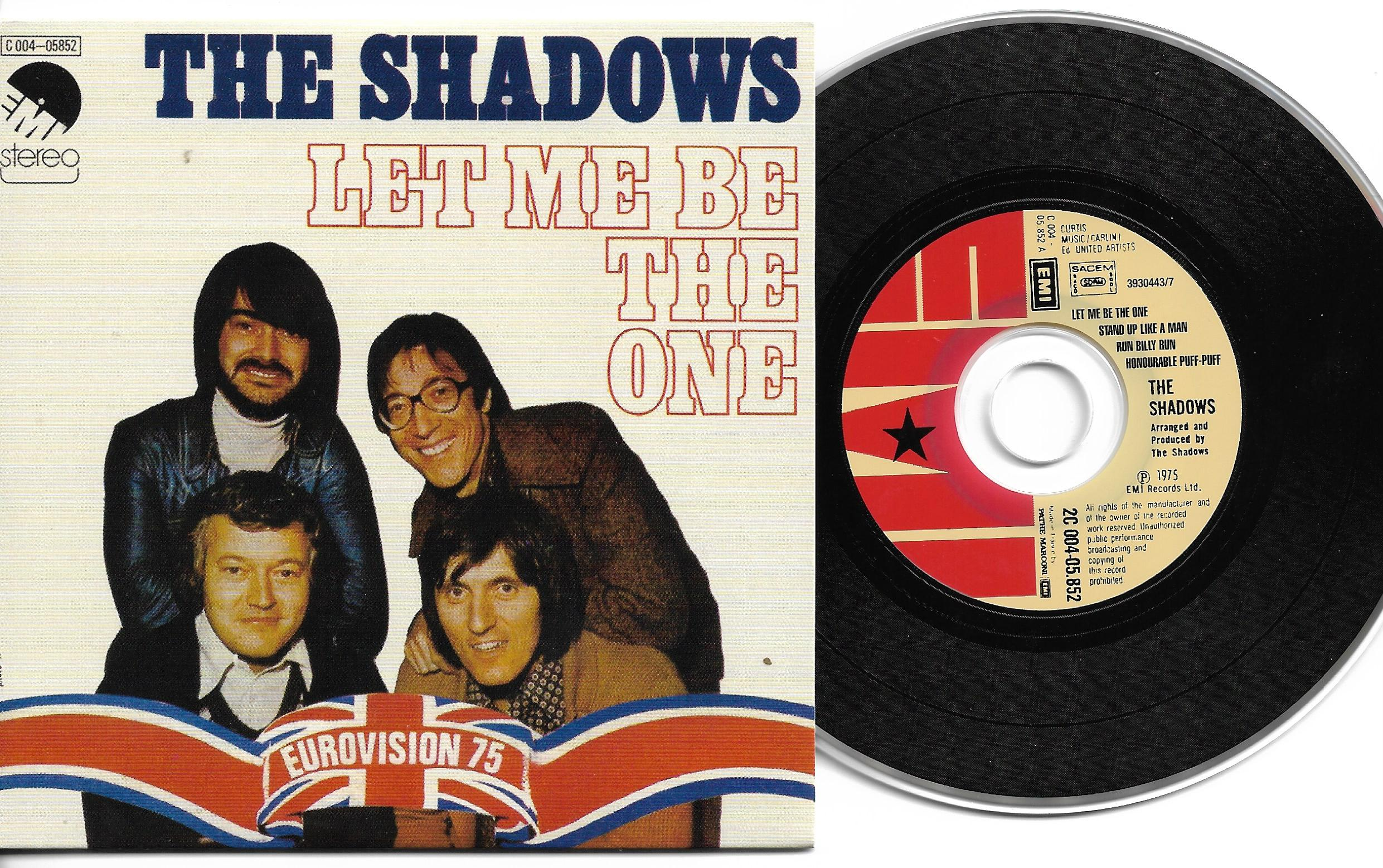 EUROVISION 1975 UK : THE SHADOWS - Let me be the one 4-TRACk CARD SLEEVE - Limited edition - - CD single