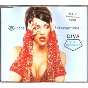 EUROVISION 1998 ISRAEL : DANA INTERNATIONAL - Diva The remixes - CD single