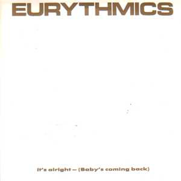 EURYTHMICS - It's Alright Uk Pochette Blanche