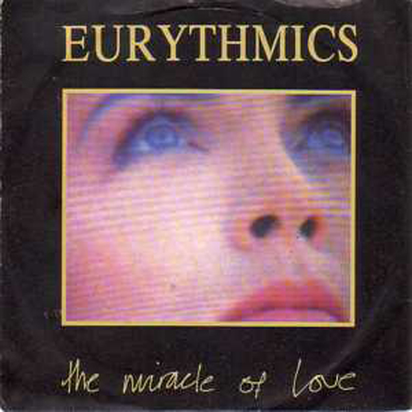 EURYTHMICS - The Miracle Of Love Pinkish Sleeve