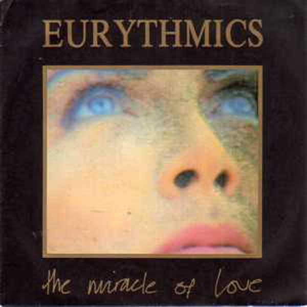 EURYTHMICS - The Miracle Of Love Yellowish Sleeve