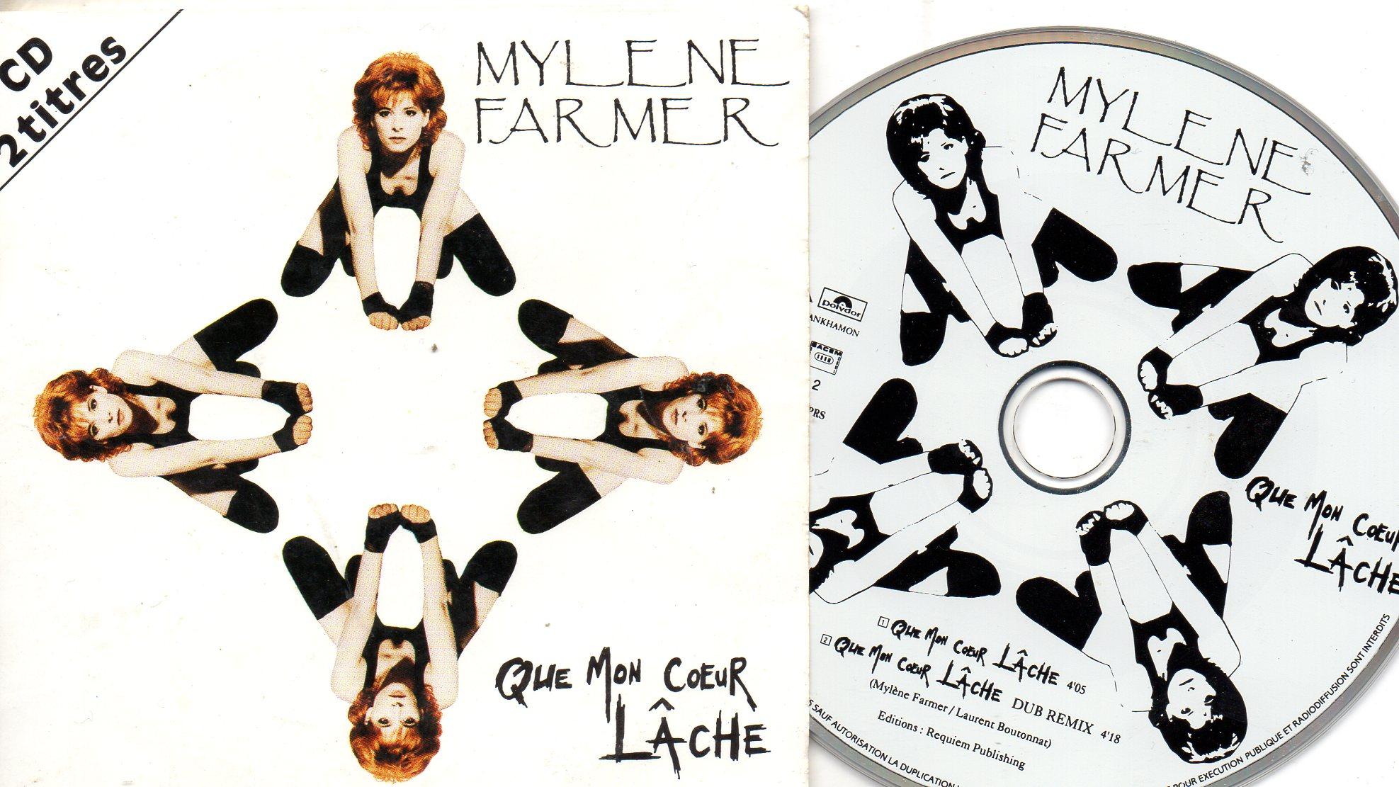 MYLÈNE FARMER - Que mon cœur lache 2-track CARD SLEEVE - CD single