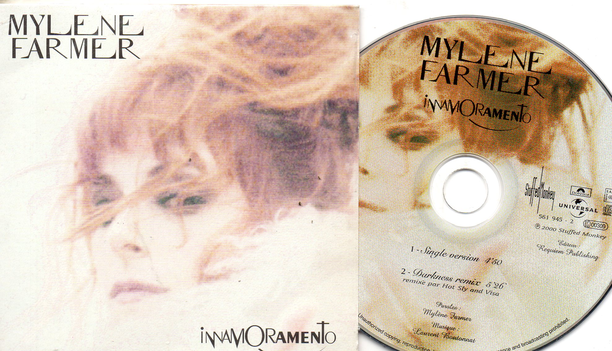 Mylène FARMER - Inamoramento 2 Tracks Picture Label Ltd Edition Card Sleeve