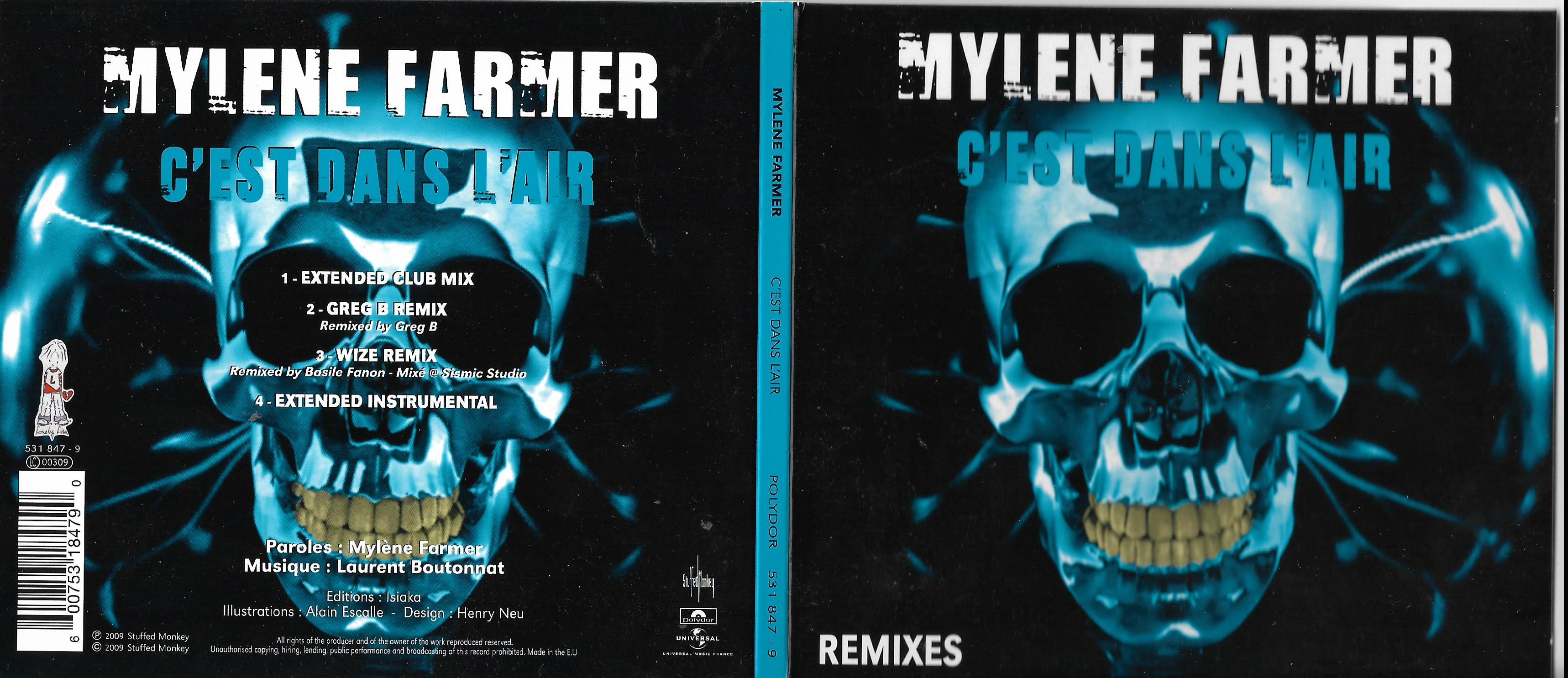 Mylène FARMER - C'est Dans L'air Part 2 Remixes Ltd Ed 4 Tracks
