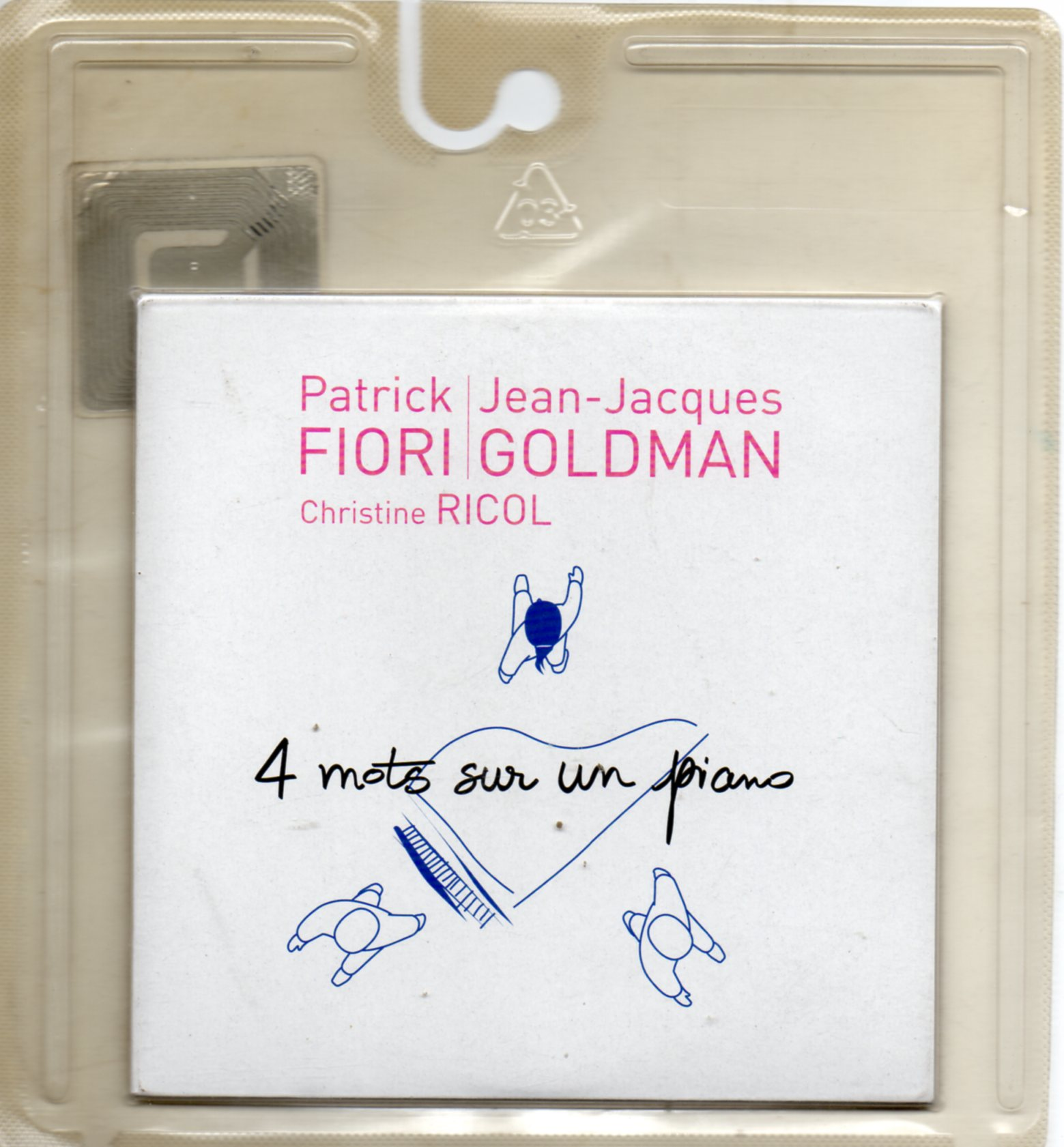 PATRICK FIORI & JEAN-JACQUES GOLDMAN - 4 mots sur un piano 2-track CARD SLEEVE poch lettrage orange - CD single