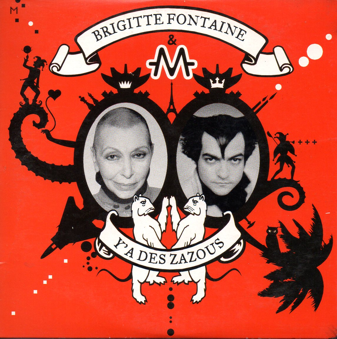 BRIGITTE FONTAINE & MATHIEU CHEDID -M- - Y'a des zazous 2-track CARD SLEEVE - CD single