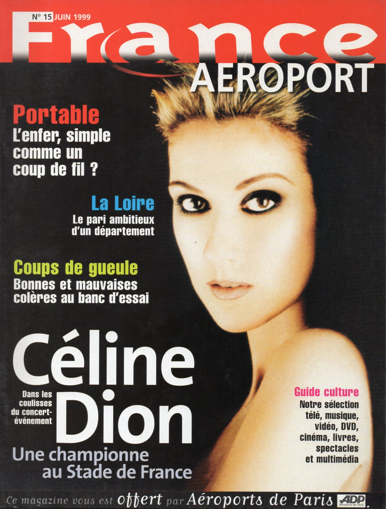 CELINE DION - JULIEN CLERC - France Aeroport N° 15 - Magazine